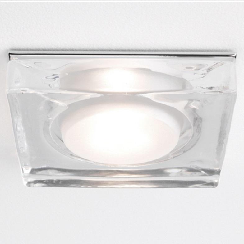 230V Badezimmer-Einbaustrahler IP65, aus Klarglas - eckig   WOHNLICHT