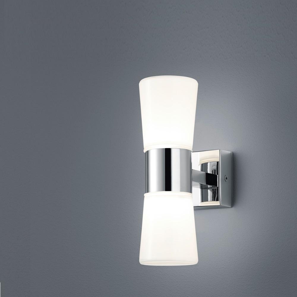 Bad Leuchte IP44 in Chrom mit weißem Acrylglas