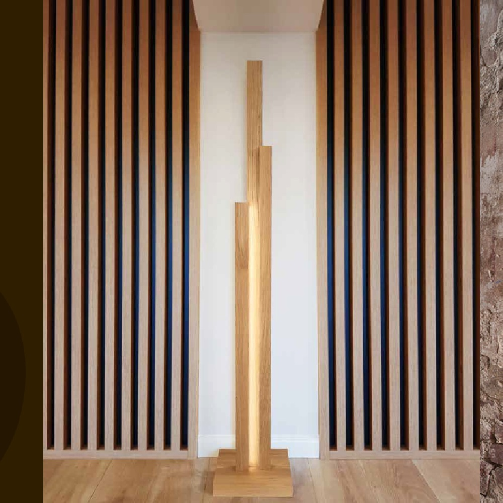 3fl Led Stehleuchte Soho Holzfarbe Wahlbar Wohnlicht