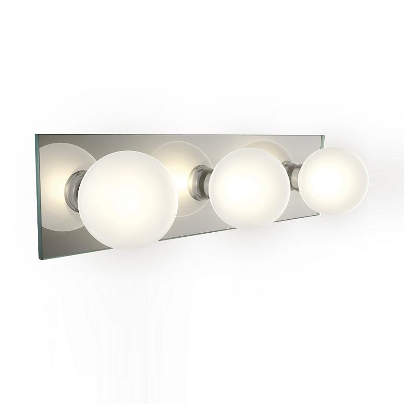 Badezimmerleuchte aus Spiegel- und Opalglas IP44 inklusive 3x 28W G9 ...