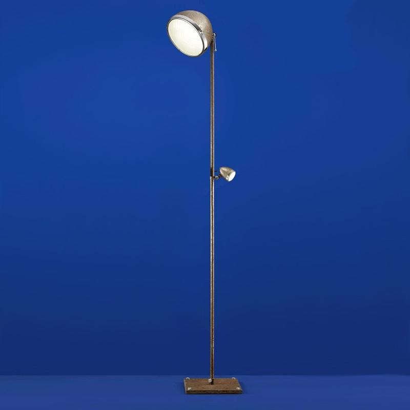 B-Leuchten Einzigartige LED-Stehleuchte in Chrom/Rost | WOHNLICHT