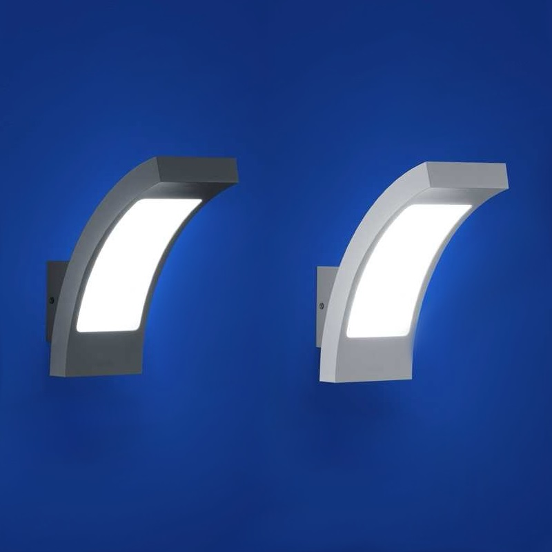 B-Leuchten Gebogene LED-Wandleuchte aus Metall | WOHNLICHT