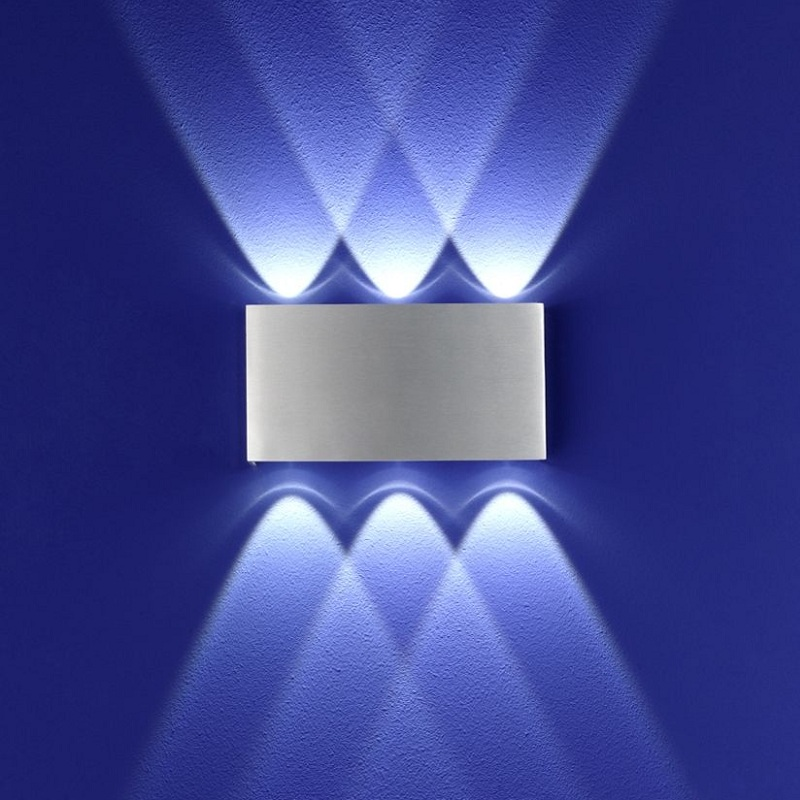 B-Leuchten LED Wandleuchte Stream Aluminium | WOHNLICHT