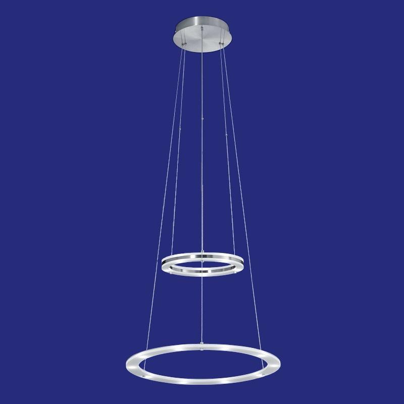 B-Leuchten LED-Pendelleuchte Ø50cm in Nickel-matt | WOHNLICHT