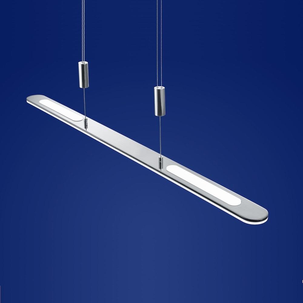B-Leuchten LED-Pendelleuchte Genk schwarz Chrom, 100 cm | WOHNLICHT