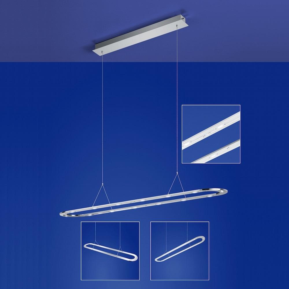B-Leuchten LED-Pendelleuchte Lille Aluminium matt | WOHNLICHT