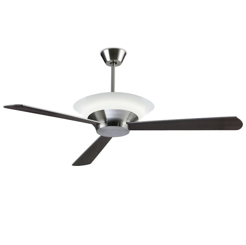 Deckenventilator Mit Licht In Nickel Satiniert, Ø132cm