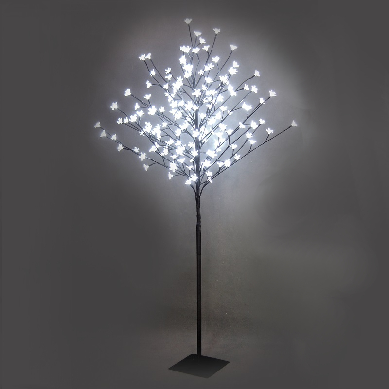 Dekoleuchte Baum LED-Standleuchte für Außen in Baum-Optik mit Blüten ...