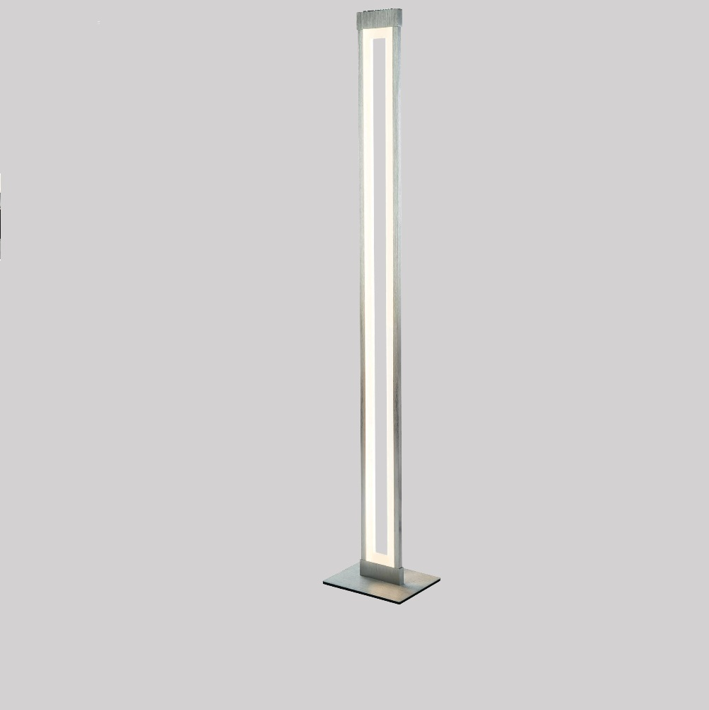 Dimmbare LED Stehleuchte Jano, Aluminium und Acrylglas | WOHNLICHT