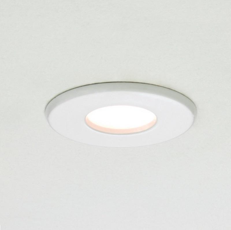 Einbaustrahler, Badezimmer, IP65, weiß, rund, Ausschnitt D=7cm