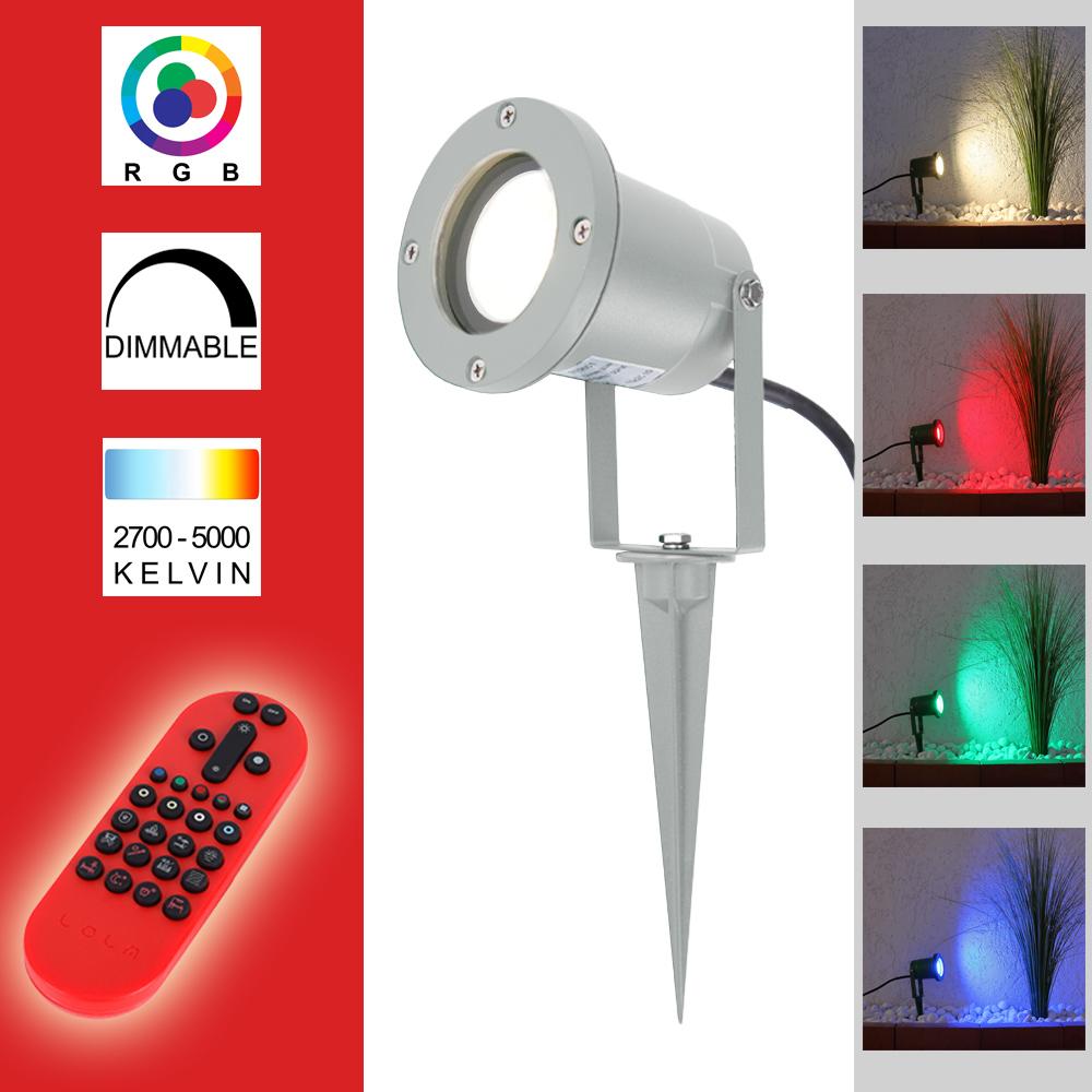 4W RGB LED Leuchtmittel GU10 Farbwechsel Strahler Fernbedienung Dimmer Reflektor