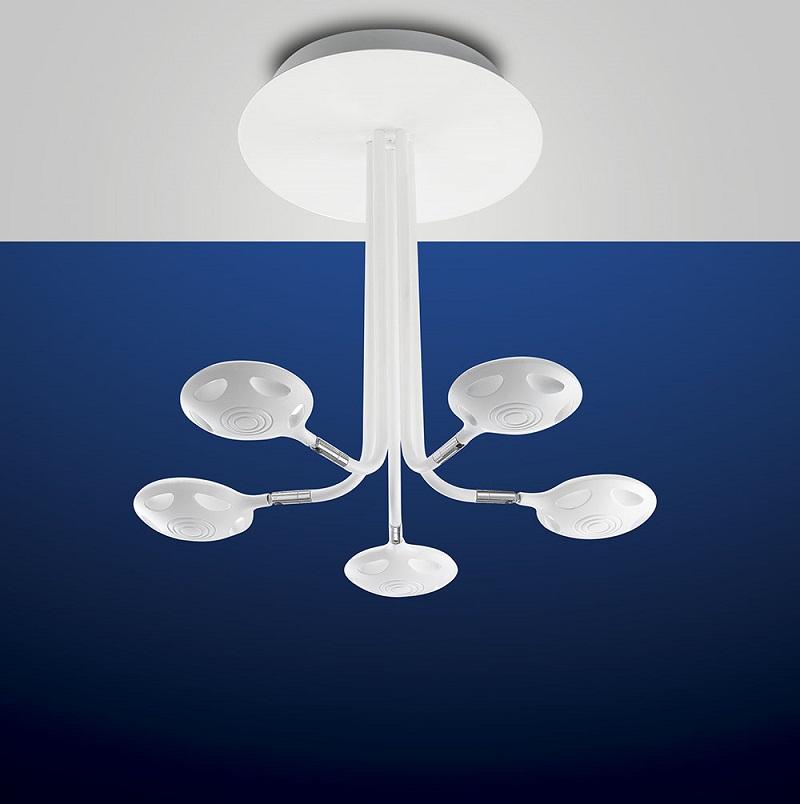 Futuristische 5-fla LED-Deckenleuchte Smash | WOHNLICHT
