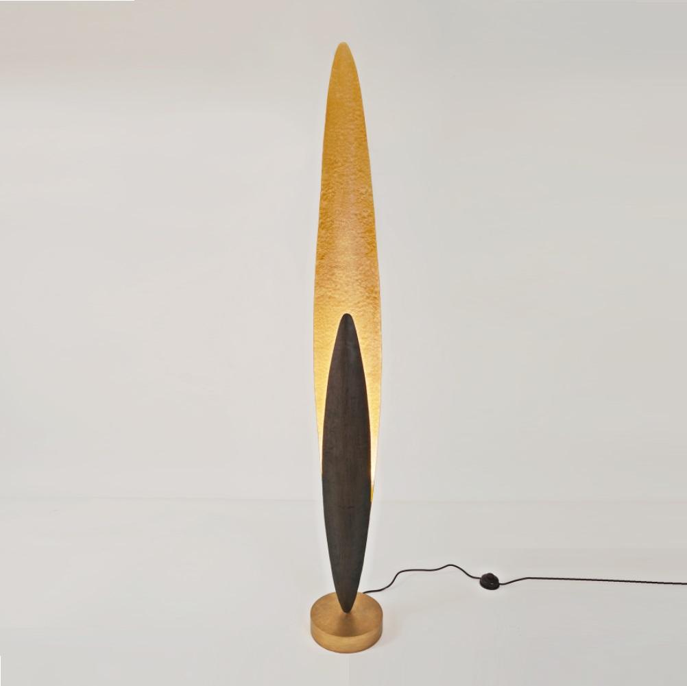 Bemerkenswert Stehleuchte Silber Galerie Von Holländer Lingua In Gold Oder