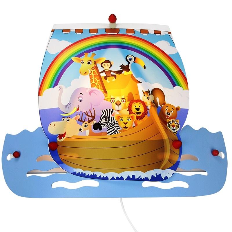 Kinderzimmer Wandleuchte Arche Noah Mit Vielen Tieren