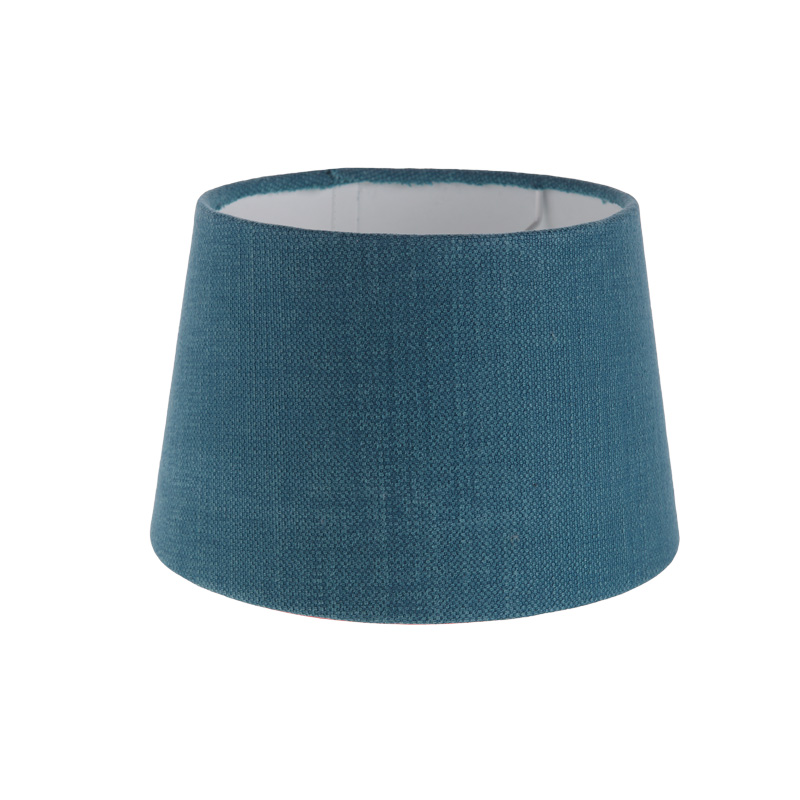 Lampenschirm Aus Stoff In Blau Rund O 20cm Aufnahme E27 Unten
