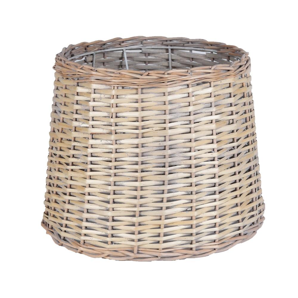 Lampenschirm Für Stehlampen Korbgeflecht Braun Natur Wohnlicht