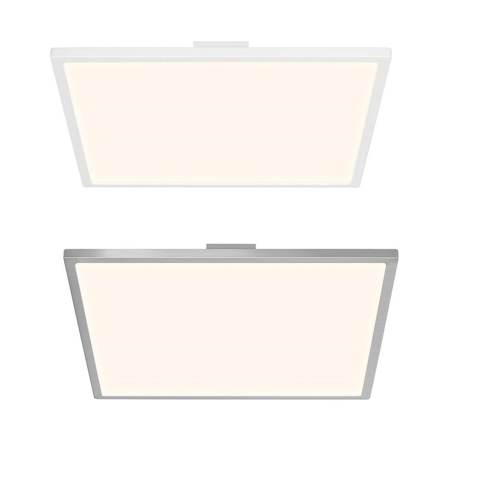 LED Deckenaufbau-Panel Ceres 35 x 35 cm - Weiß oder Nickel satiniert ...