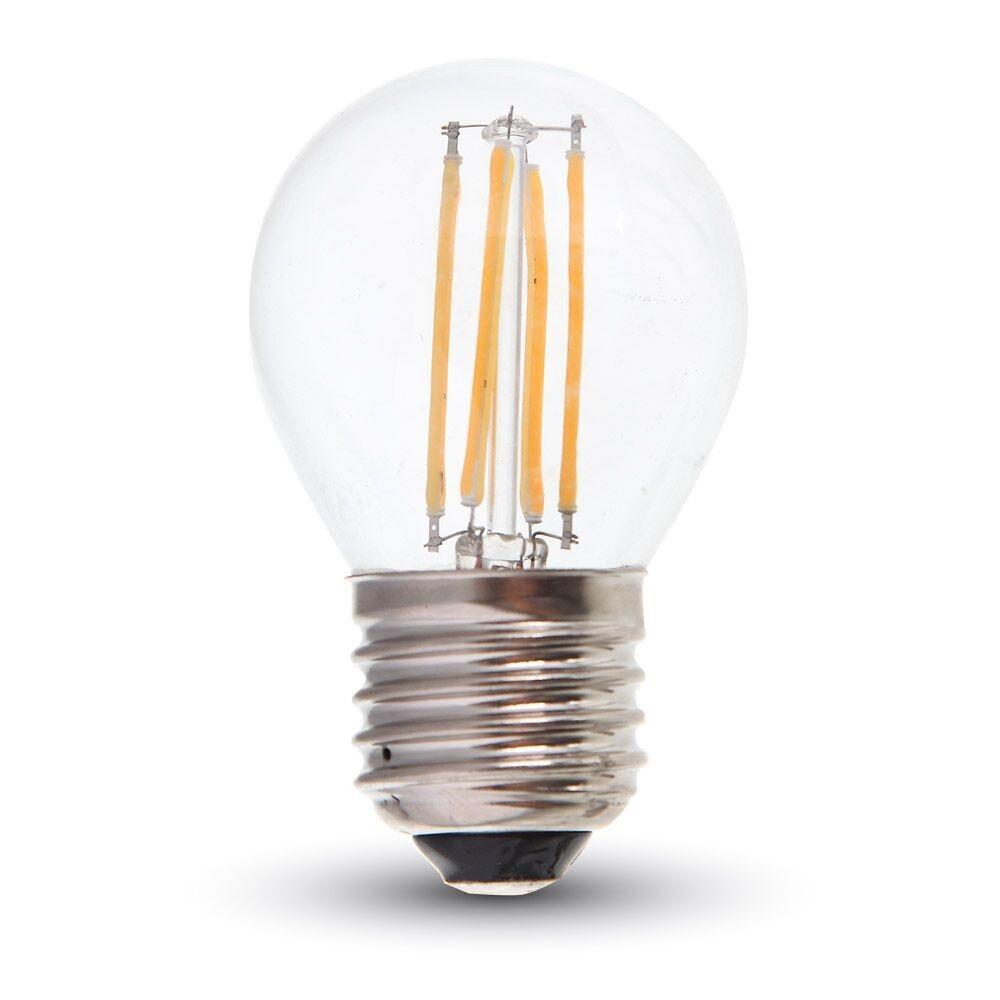 Led E27 Tropfen 4 Watt 400 Lumen 2700 Kelvin Filament Wohnlicht
