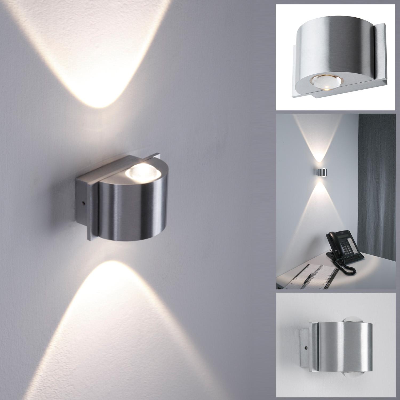 LED Wandleuchte Außen, Up & Down, rund, 2 flammig, LED