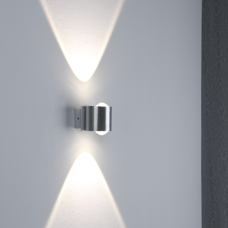 Led Wandleuchte Aus Aluminium Ip44 Wohnlicht