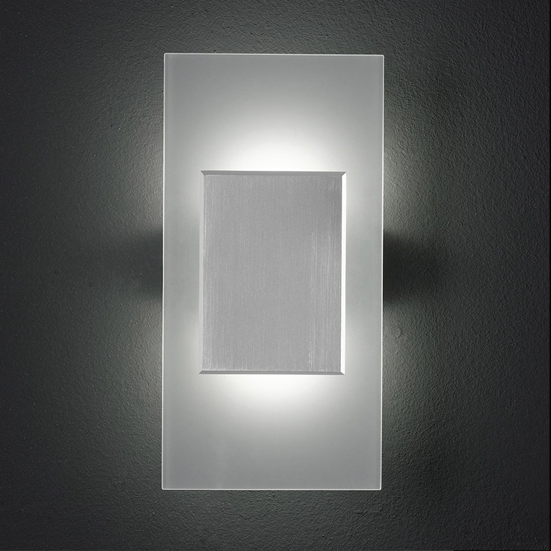 Led Wandleuchte Satiniertes Glas Mit Aluminium Inklusive 2x3 5watt Warmweiß 2700k