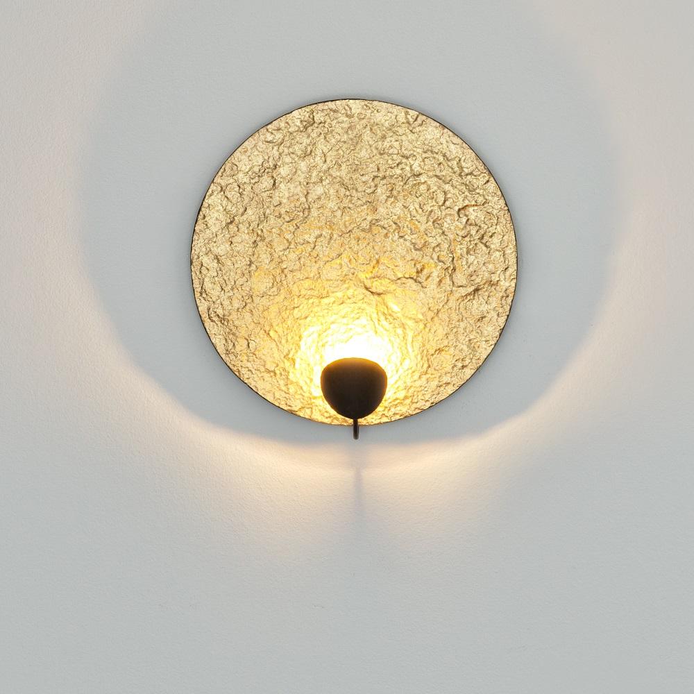 Led Wandleuchte Traversa Gold Design Handarbeit Unikat Modern