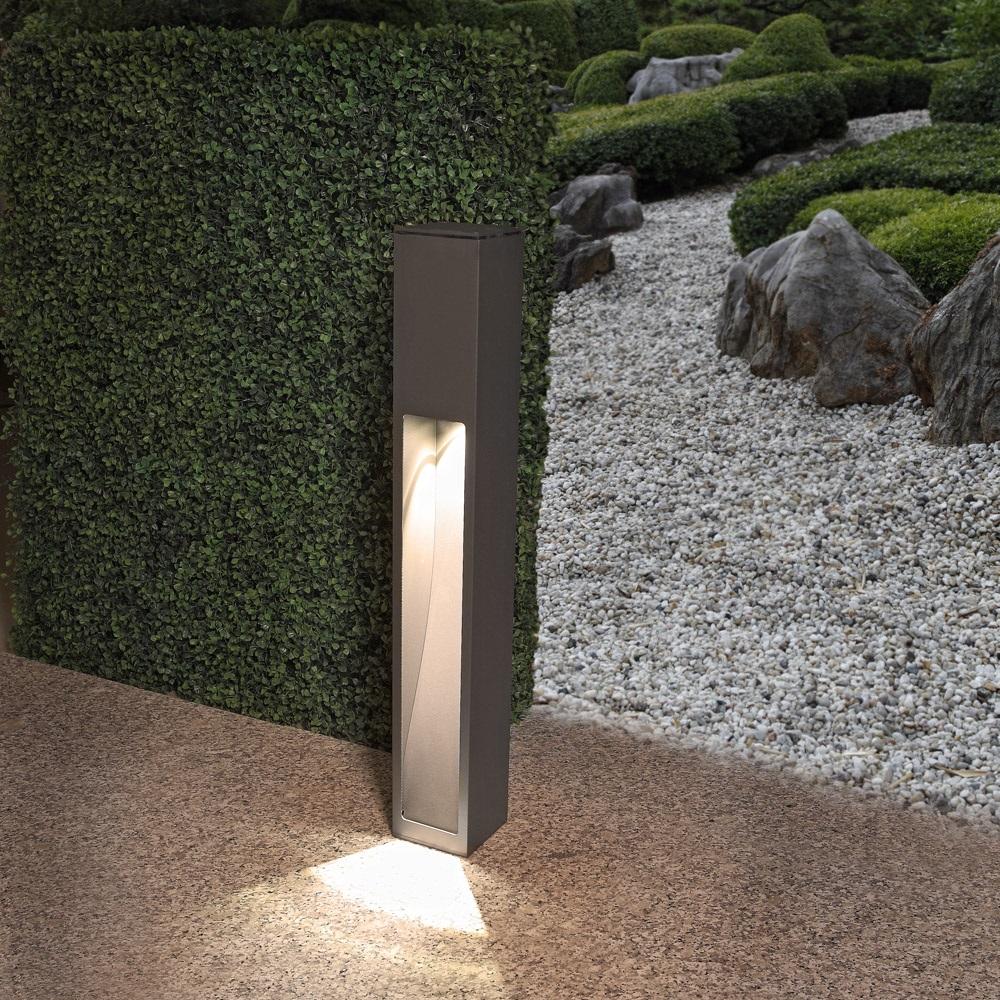 Mit Einseitigem Lichtaustritt Gartenleuchte Hohe 75 2 Cm
