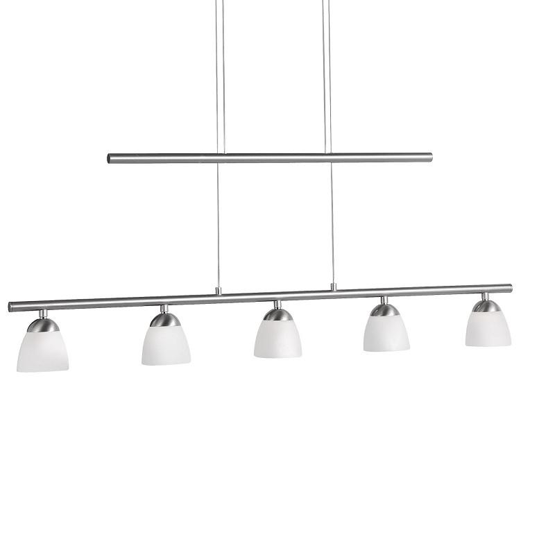 Moderne LED Pendelleuchte   5 Flammig   Höhenverstellbar + LED Taschenlampe