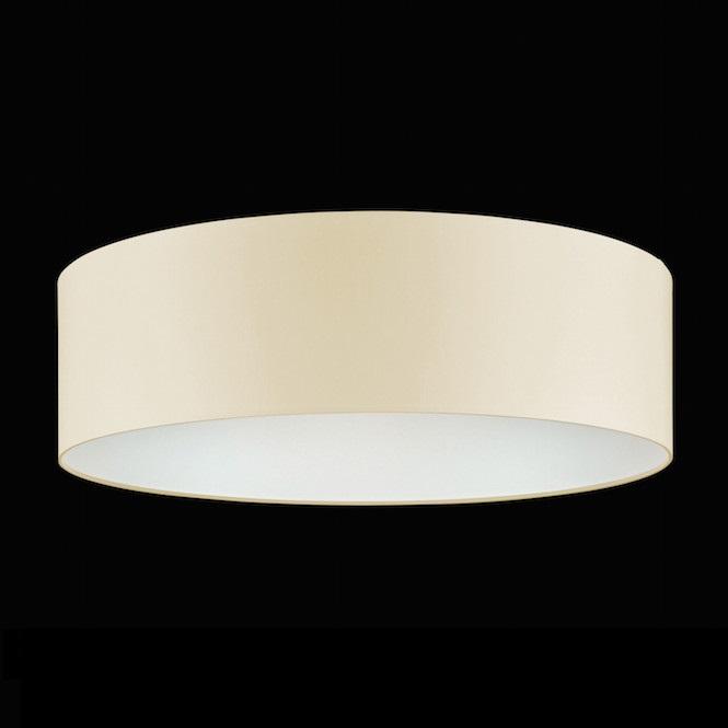 Runder Chintz Stoff Lampenschirm Creme O 50 Cm Wohnlicht