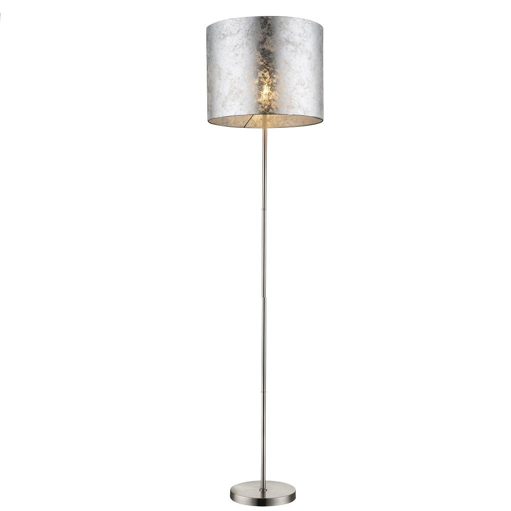 Liebenswert Stehleuchte Silber Foto Von Amy I Mit Schirm In Metallic