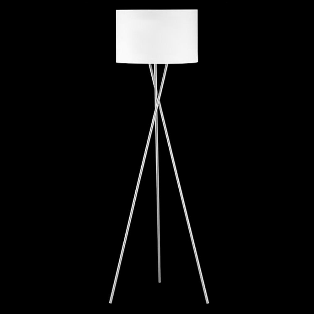 Stehleuchte Dreibein Tripod Modern Schnurschalter Nickel Matt