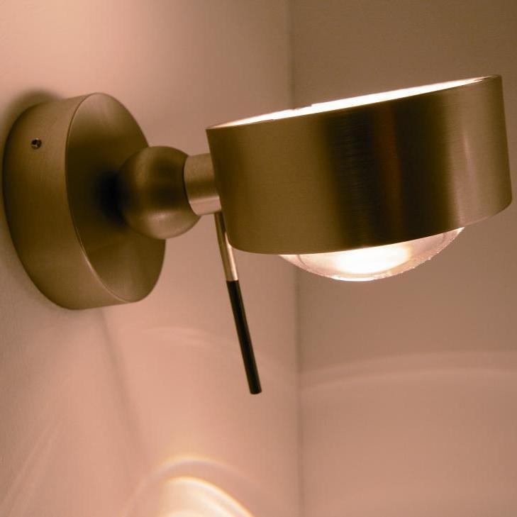 Wandleuchte Puk Wall top light wandleuchte puk wall in chrom matt wohnlicht