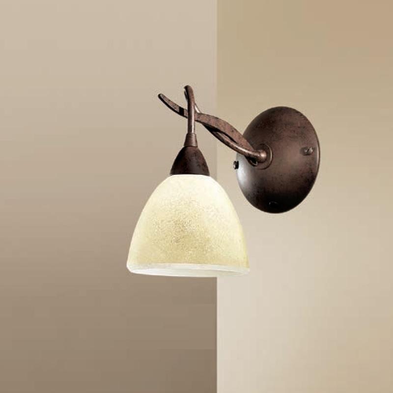 Wandleuchte Svera Glas Scavo Rostfarben Landhausstil Antik Wandlampe Lampenwelt