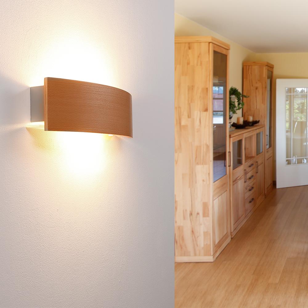 Wandleuchte Blende In Buche Indirekte Beleuchtung Wohnlicht