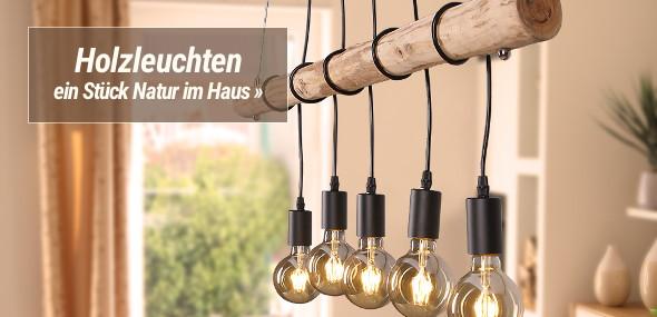 Holzleuchten & Lampen mit Holz