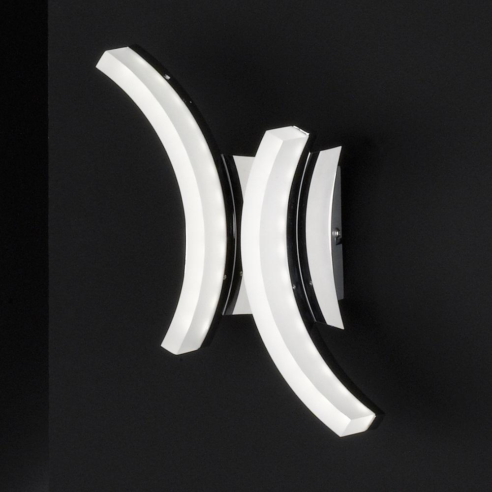 Fischer & Honsel GmbH 2-flg. LED-Wandleuchte Ta...