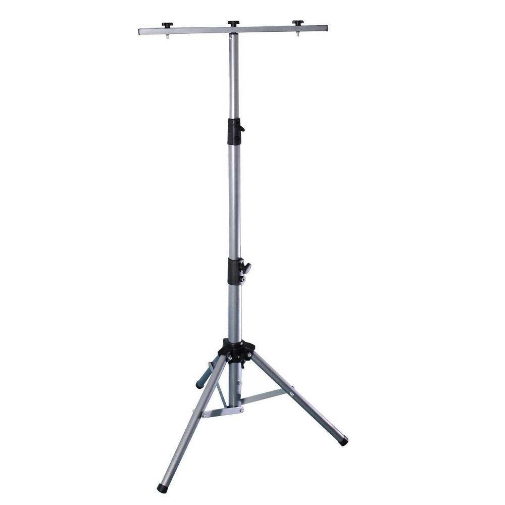 3-Bein-Stativ für Strahler, silber, höhenverstellbar