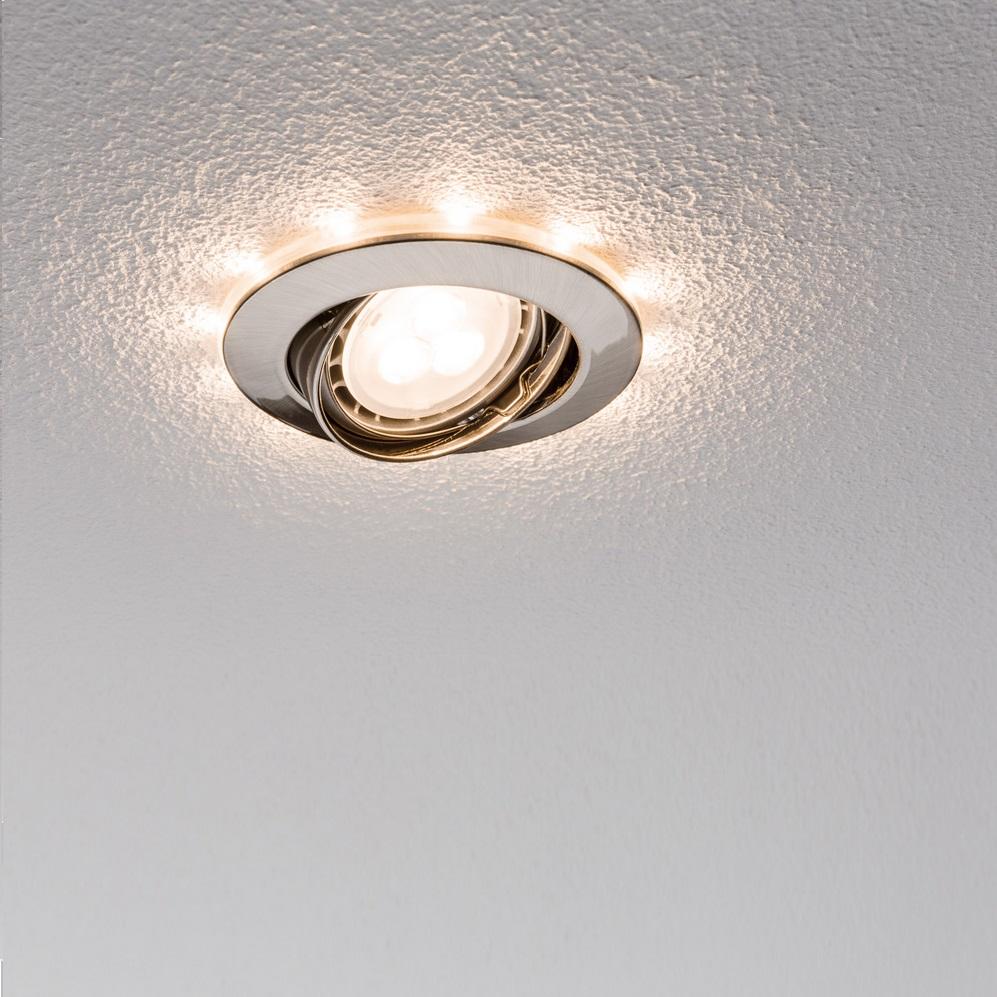 3er LED-Einbauleuchten-Set mit dekorativem LED Ring