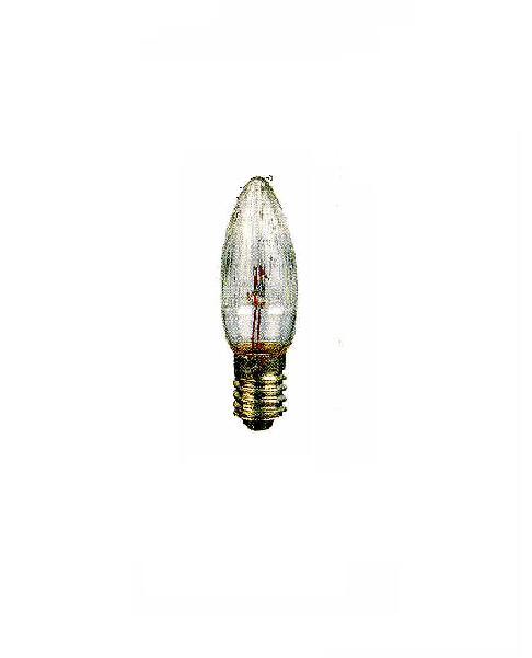 3-er Set Topkerze geriffelt für Lichterkette , Innen und Außen geeignet