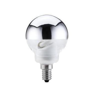 Paulmann Energiesparlampe Globe 60 7W E14 Kopfspiegel Silber 266 Lumen 2700K 880.75 | Lampen > Leuchtmittel > Energiesparlampen | Paulmann