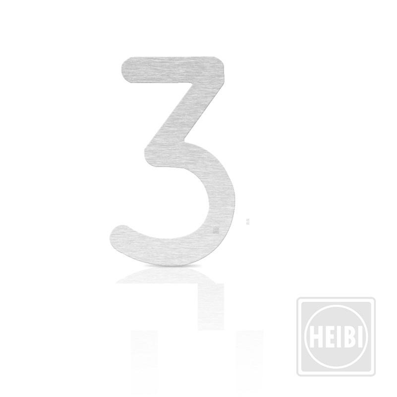 Heibi Hausnummer aus Edelstahl zum Kleben, Höhe 16cm, Nummer 3 Colu Hausnummer 3 64363-072 | Lampen > Aussenlampen > Hausnummern | Heibi