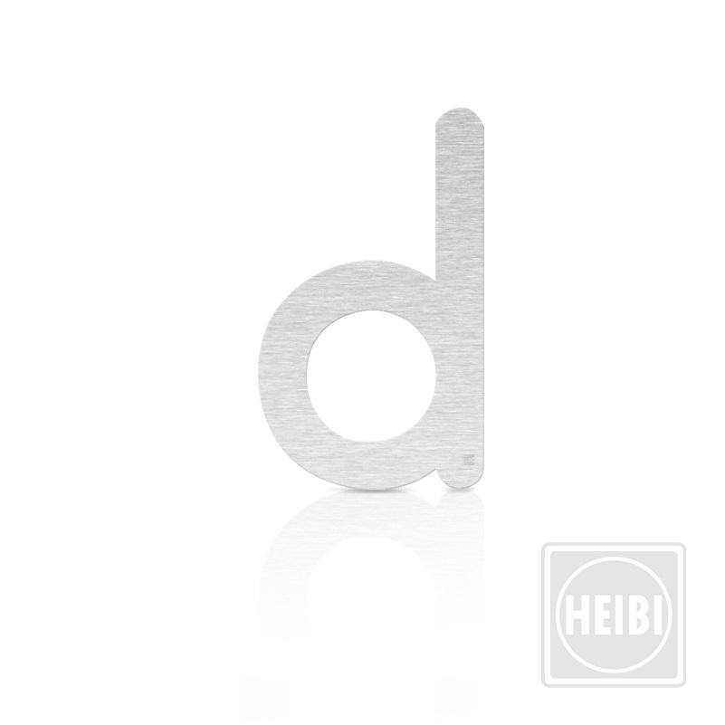Heibi Hausnummer aus Edelstahl zum Kleben, Höhe 16cm, Buchstabe d Colu Hausnummer d 64373-072 | Lampen > Aussenlampen > Hausnummern | Heibi