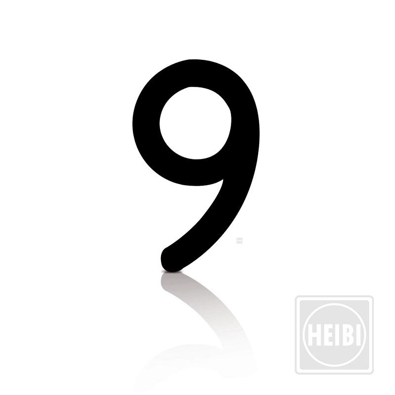 Heibi Hausnummer von 0-9, aus wetterbeständiger Folie zum Aufkleben Höhe 8cm, Hausnummer 9 Stic Hausnummer 9 64339 | Lampen > Aussenlampen > Hausnummern | Heibi
