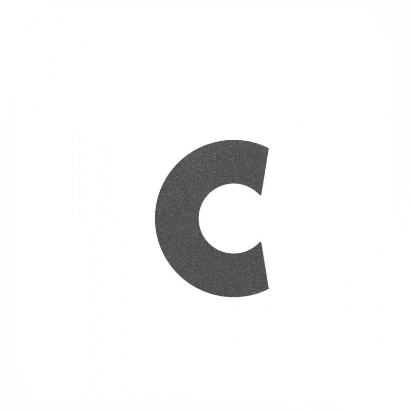 Heibi Hausnummer in Grafitgrau, Buchstabe c Midi Hausnummer c 64482-039 | Lampen > Aussenlampen > Hausnummern | Edelstahl | Heibi