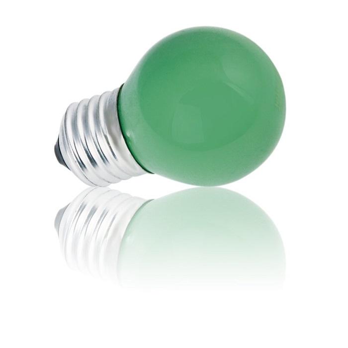 Heitronic D45 E27 Tropfenlampe 15W in Grün 1x 1...