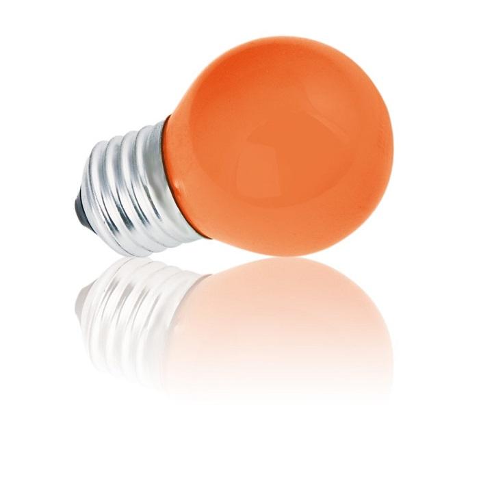 Heitronic D45 E27 Tropfenlampe 15W in Rot 1x 15...