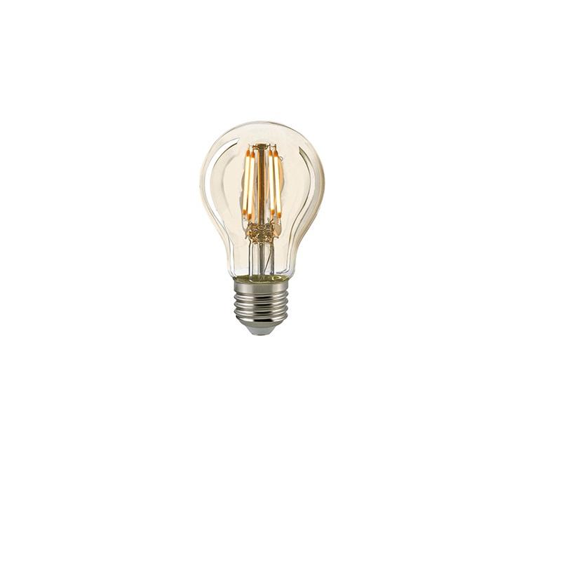 A60 LED Filamentlampe gold  2400K dimmbar - 7 Watt Filament