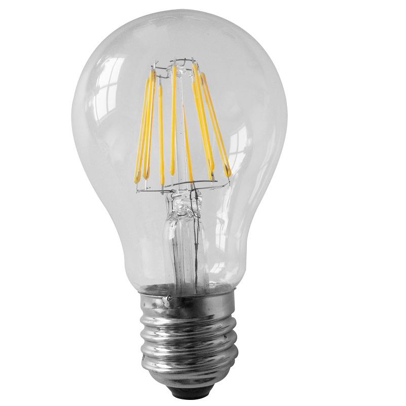 A60 LED 6 Watt  E27 Fadenleuchtmittel 230V - entsprechen 60 Watt