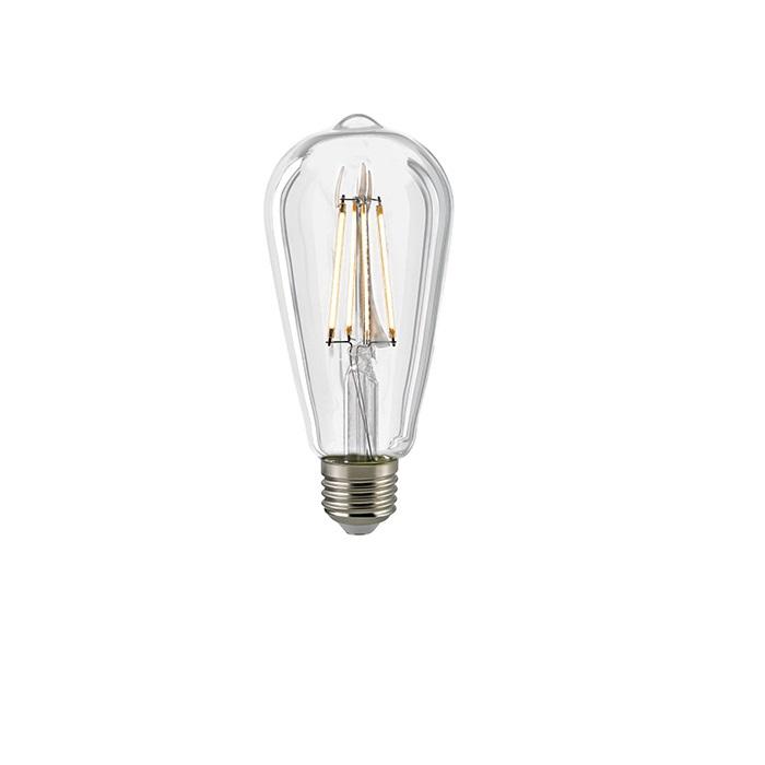 A65 LED Rustikalampe Filament E27 7 Watt  2700K dimmbar