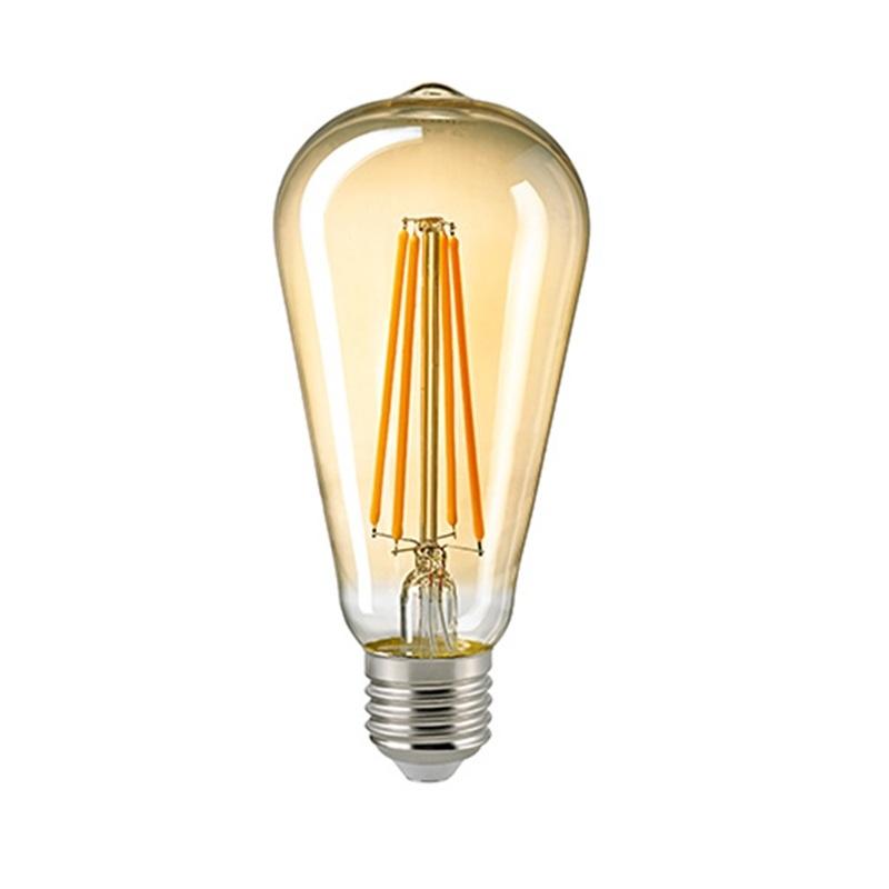 A65 LED Rustikalampe Filament Gold E27 2400K dimmbar 7 Watt